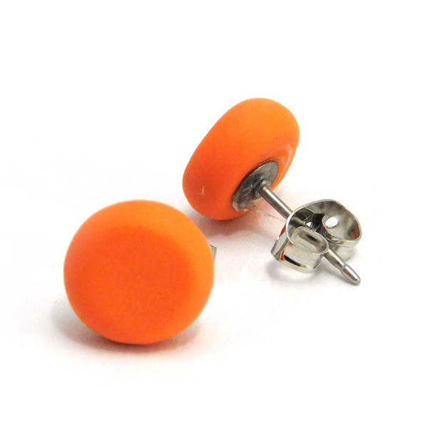 Sweet Potato Orange Polymer Stud Earrings