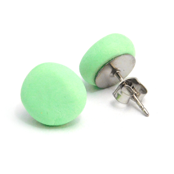 Mint Polymer Stud Earrings