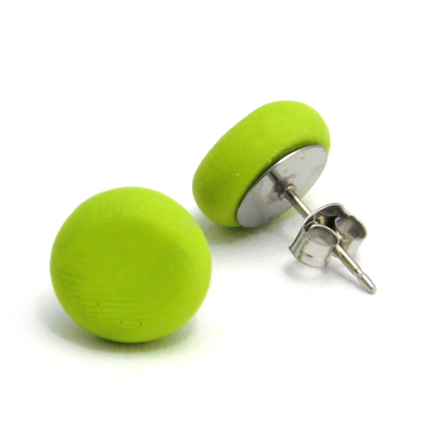 Wasabi Green Polymer Stud Earrings