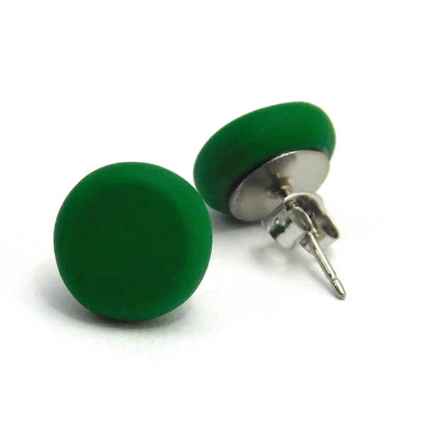 Green Polymer Stud Earrings