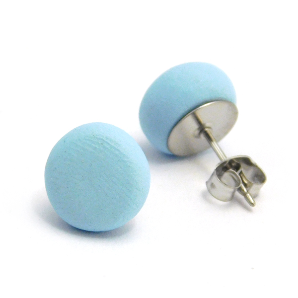 Sky Blue Polymer Stud Earrings