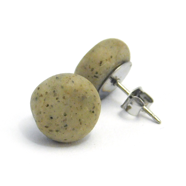 Granite Polymer Stud Earrings