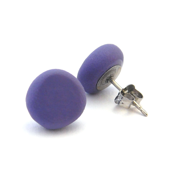 Gentle Plum Polymer Stud Earrings