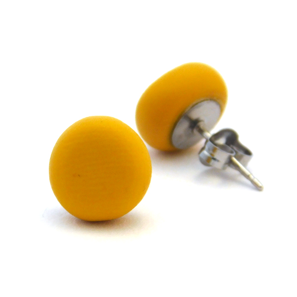 Mustard Polymer Stud Earrings