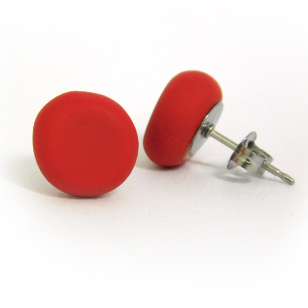 Pomegranate Polymer Stud Earrings