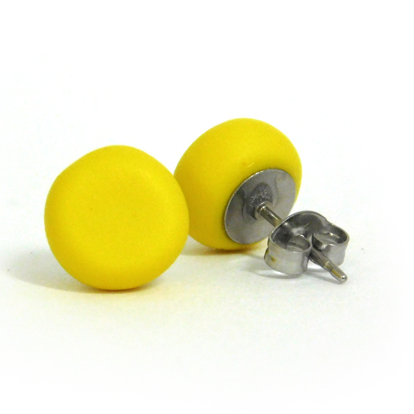 Cadmium Yellow Polymer Spot Earrings