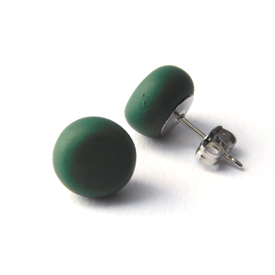 Jungle Green Spot Studs