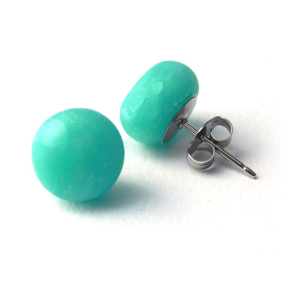 Sea Glass (Aqua) Spot Studs