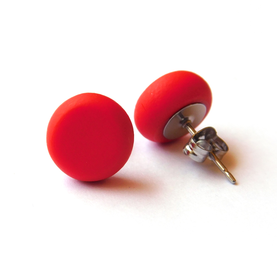 Cadmium Red Polymer Spot Studs