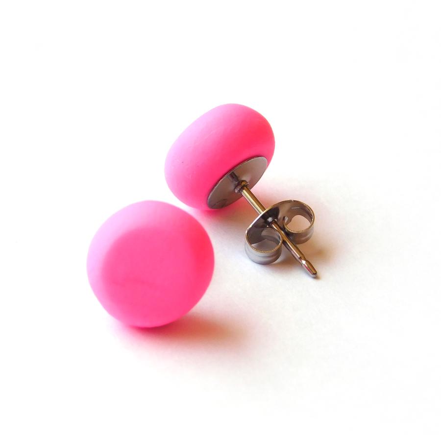 Hot Pink Polymer Spot Studs